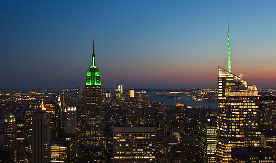 New York City, Green Empire State Building by thomasrichter