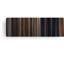 Moviebarcode: Harry Potter and the Philosopher's Stone (2001) Canvas Print