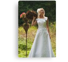 Bride outdoor Canvas Print