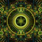 """Metatron's Magick Wheel"" - Fractal Art - iPhone Case by Leah McNeir"