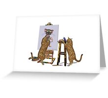 Artists at Work .. March Cats Greeting Card