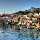 Chalki Harbour Panorama by Tom Gomez