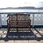 Bench on the Pier by kalaryder