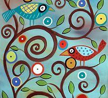 Branch Birds  by karlagerard