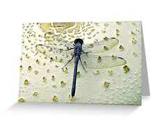 Exit the Blue Dragon Greeting Card