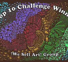 Rainbow Doodle Banner Entry, We Sell Art by Picatso