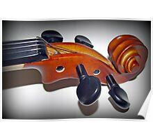 Play in Tune - Violin Vignette Poster