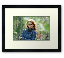 Portrait of woman in nature Framed Print