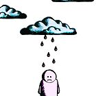 Sad Man & Rain Cloud - iPhone Version by Nik Usher