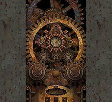 Infernal Steampunk Machine #2 iPhone / iPod case by Steve Crompton