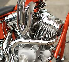 red chopper by Mick Kupresanin