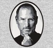 Steve Jobs Tee by Adrian Fidalgo