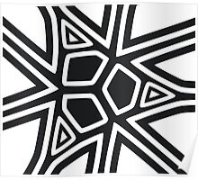 Black and white geometric art Poster