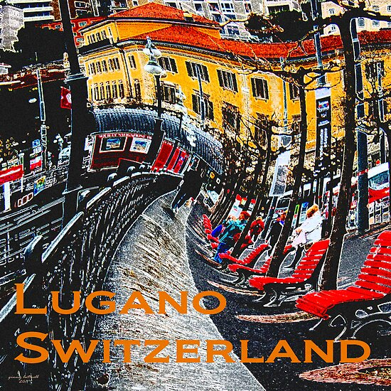 Wacky Lugano, Switzerland by Ginny Luttrell