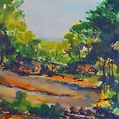 Rear of Hudson Park, Kilmore, Vic, Australia by Margaret Morgan (Watkins)