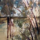 The old trestle bridge, Seymour, Vic Australia by Margaret Morgan (Watkins)