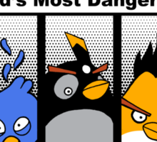Angry With Attitude - Gangster Birds Sticker
