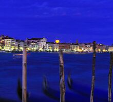 Blue Lagoon Moonrise - Venice by bevanimage