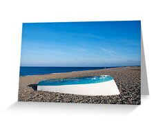 blue white blue Greeting Card