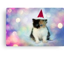 Christmas Kitten Canvas Print