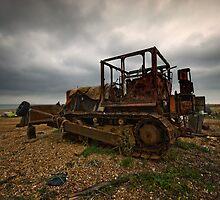 Bulldozer at Dungeness by Nigel Bangert