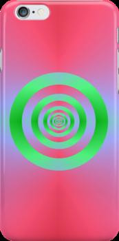 Infinite Green Hoops by Objowl