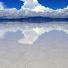 Cloud Reflections in Salar de Uyuni, Bolivia by Camila Gelber