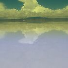 Yellow Cloud Reflections, Uyuni, Bolvia by Camila Gelber