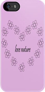 love nature- daisy heart iphone case  by faithie