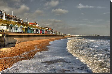 Southwold Beach Huts & beach  by Rob Hawkins