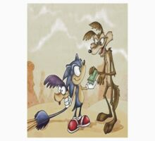 sonic catches road runner by acanuto