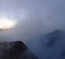 The early morning mist at the Sol de Manana geysers, Bolivia by Camila Gelber