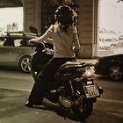 Biker chick 0773 GYL by Rebecca Tun