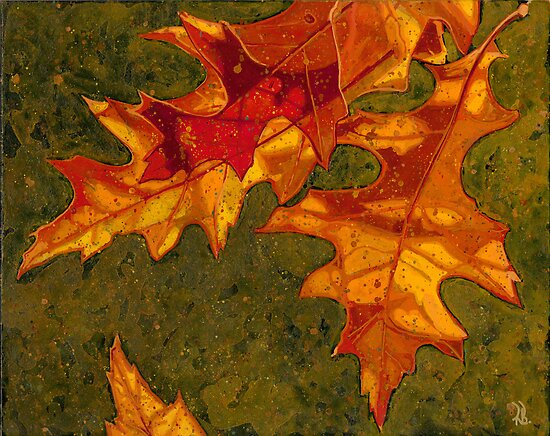 Oak Leaves by Richard Bradish Jr