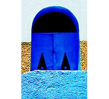A Wall in Three Parts   The Blue Door Photographic Print