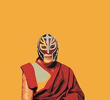 Wrestler Lama Street Art by dashiner