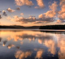 Float Away Into The Sunset - Narrabeen Lakes, Sydney - The HDR Experience by Philip Johnson