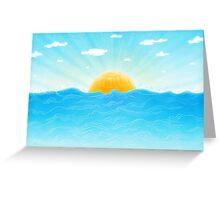 Hello Sunwaves Greeting Card