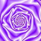 Lavender Rose Spiral by Objowl