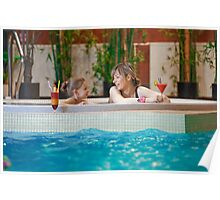 Relaxing in swimming-pool Poster