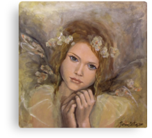 """The touch of an angel (""""Angels"""" series) Canvas Print"""