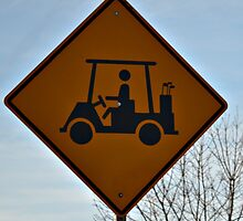 Golf Cart Crossing by Sheryl Gerhard