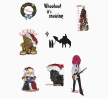 Christmas Stickers  by missmoneypenny