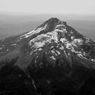 Aeriel View of Mt Hood by Jennifer Hulbert-Hortman
