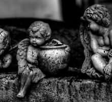 Three Cherubs -- Miami Cemetery by njordphoto