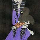 Girl with Baby Bird by Bethy Williams