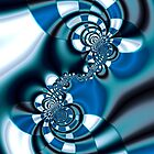 Blue Spirals by Hugh Fathers