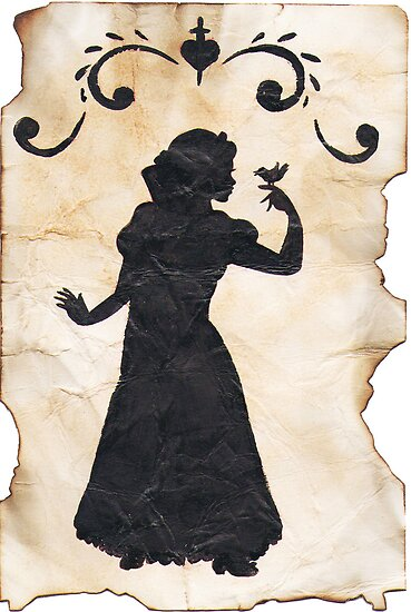 Snow White Ink Silhouette by joshda88