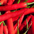 Red chillies by Julia Ott