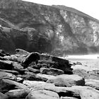 Trebarwith in Black and White by clydeypops